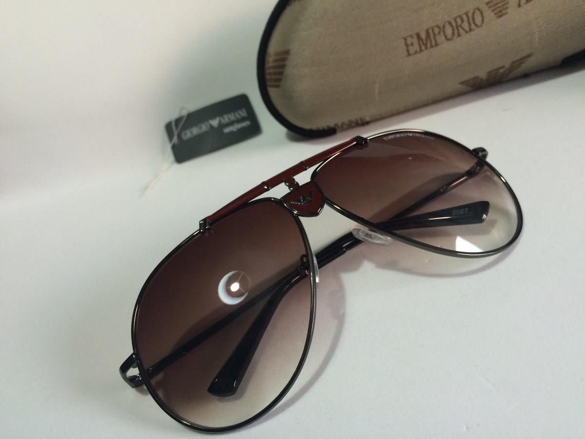 48995df0f337c Óculos De Sol Modelo Aviador Emporio Armani Masculino - R  180,00 em ...
