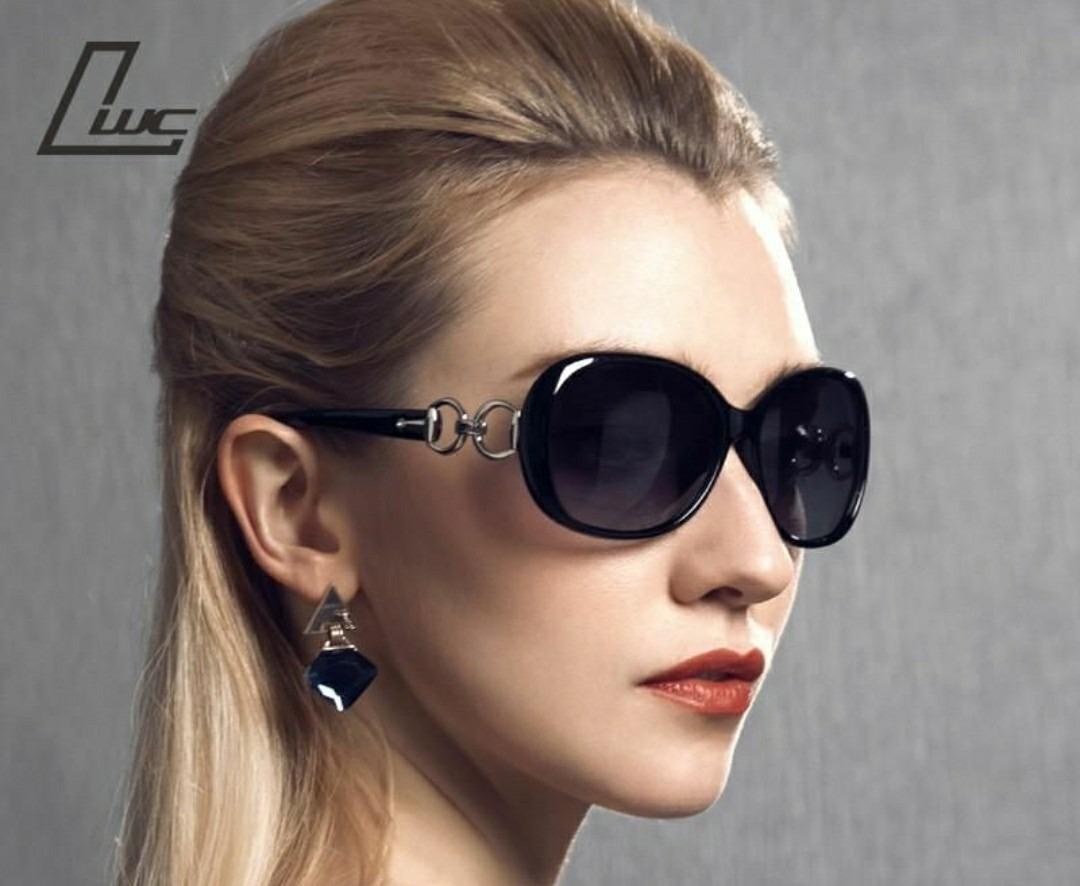 e0ca656e8fc2d óculos de sol modelo oval luxuoso feminino de marca famosa. Carregando zoom.