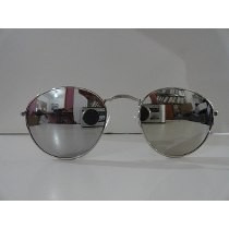 7ae3fe36c Óculos De Sol Modelo Ovalado - Prata Espelhado Prata - R$ 29,94 em ...