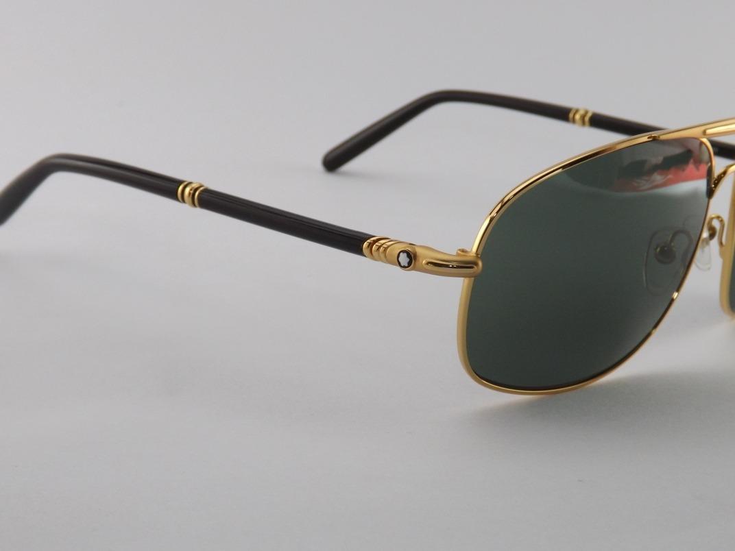 ce7a74f14ba2d Óculos De Sol Mont Blanc 513s Dourado Lançamento - R  299,00 em ...