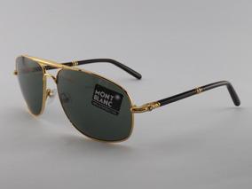 46ca20673 Óculos De Sol Mont Blanc 513s Dourado Lançamento