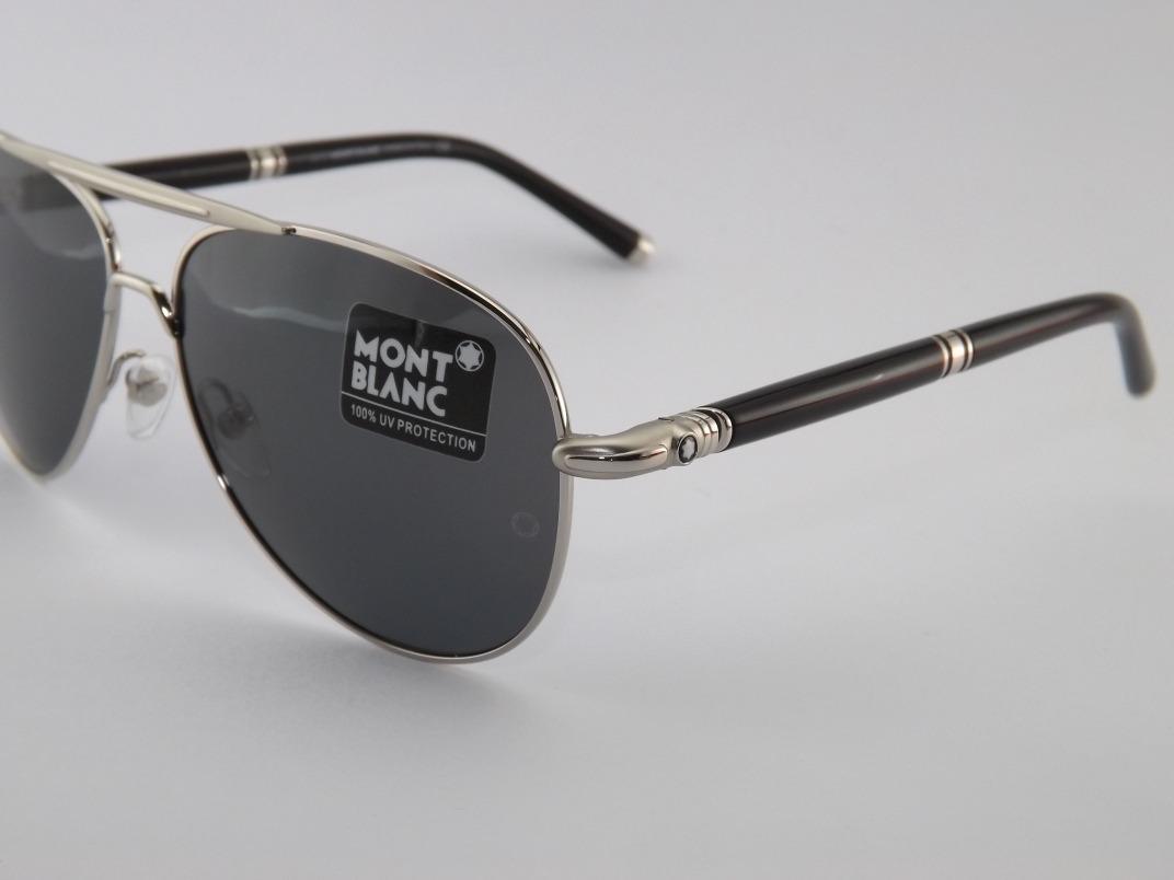 43efb1808 Óculos De Sol Mont Blanc 519s Prata Com Preto - R$ 299,00 em Mercado ...