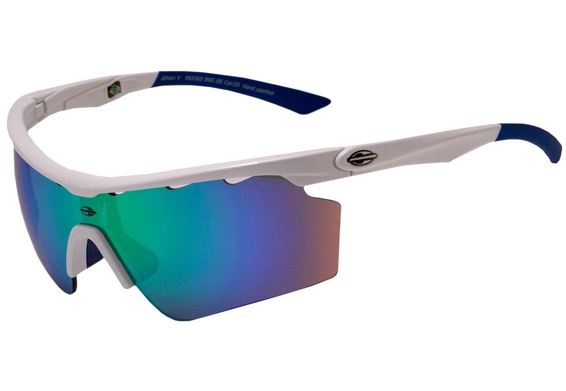 622373b1e óculos de sol mormaii athlon v branco lente verde espelhada. Carregando  zoom.