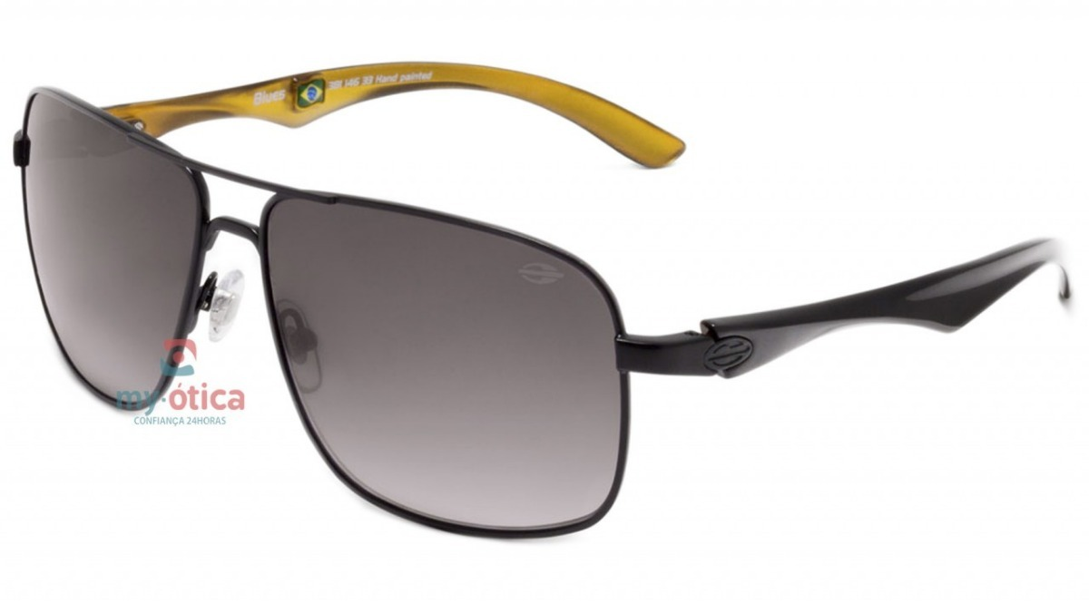 óculos de sol mormaii blues preto e amarelo original com nfe. Carregando  zoom. b6c6ae5cc3