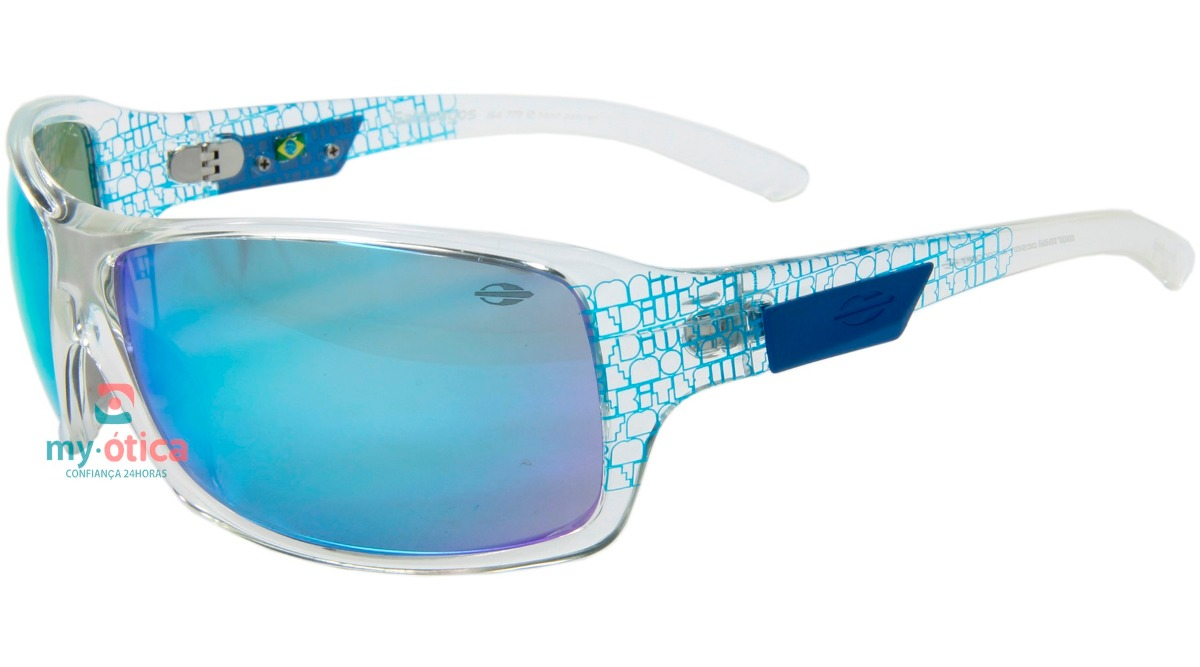 725207f7e1bb6 óculos de sol mormaii galápagos transparente e azul original. Carregando  zoom.