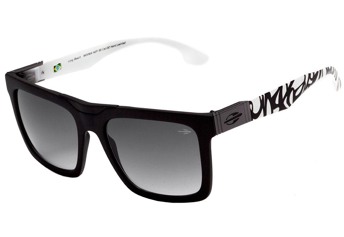 c236faaa7 óculos de sol mormaii long beach preto e branco lente preto. Carregando zoom .