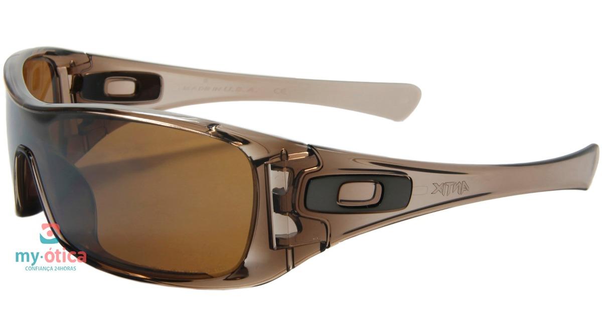 0d771146e20b0 óculos de sol oakley antix marrom polarizado original. Carregando zoom.