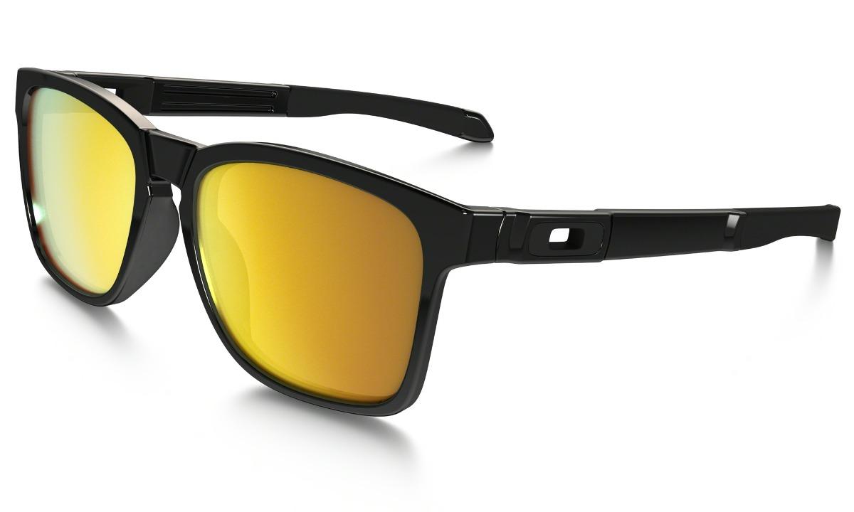 fc4779e49 óculos de sol oakley catalyst polished black w/ 24k iridium. Carregando  zoom.