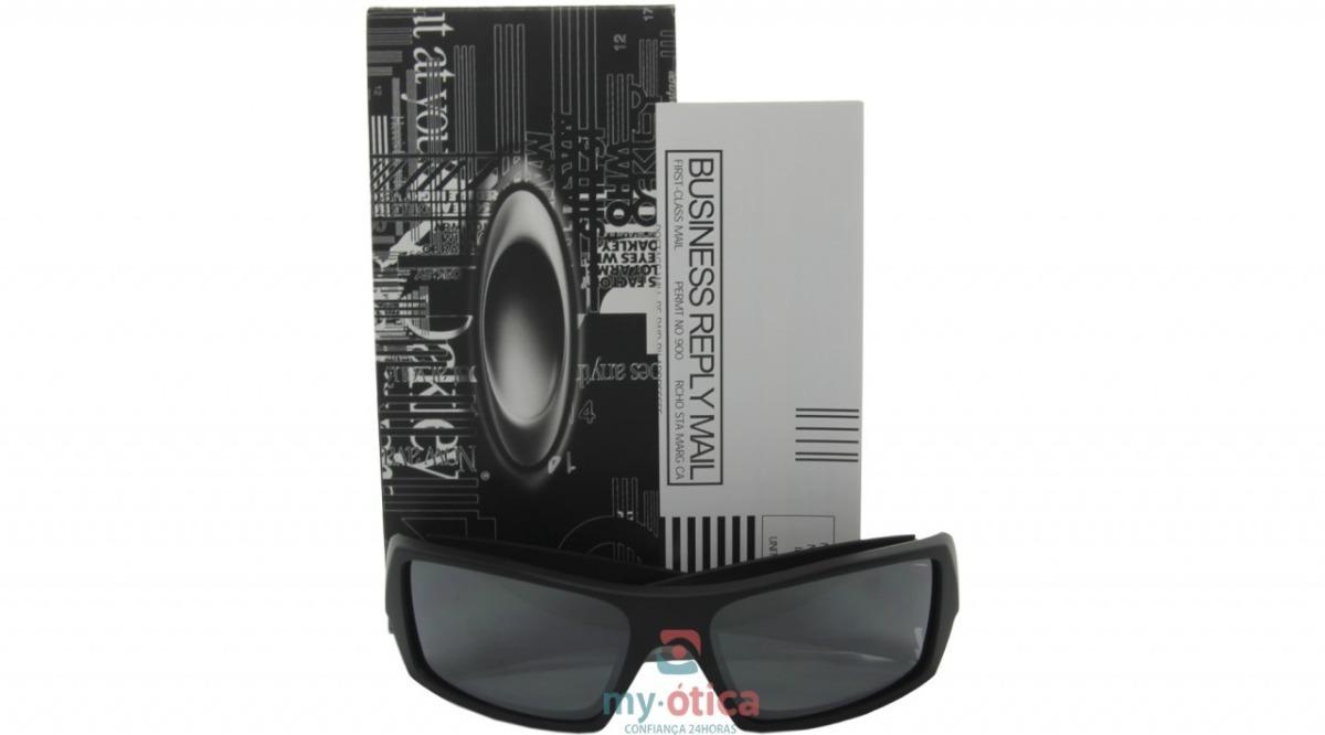 61161be50a500 óculos de sol oakley gascan preto fosco polarizado original. Carregando  zoom.