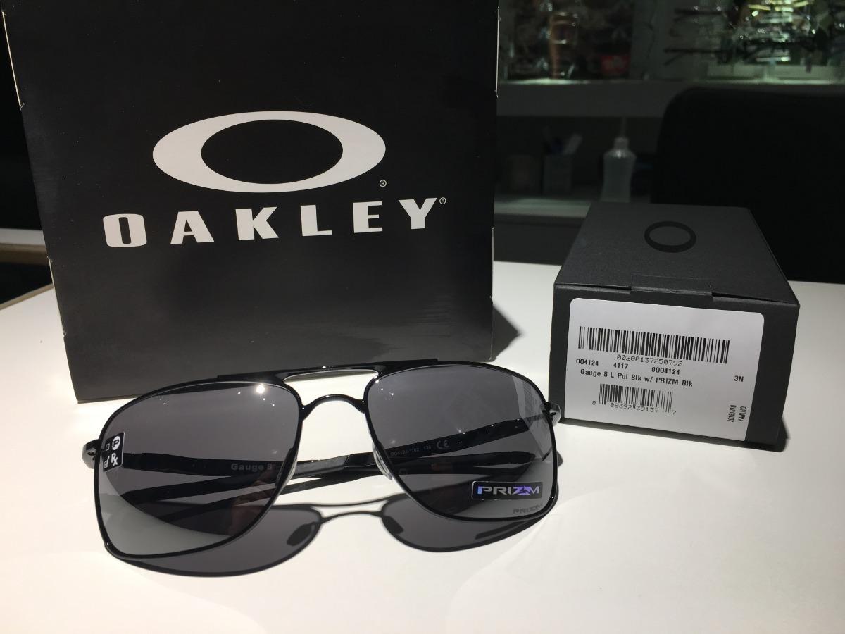 0b9885fb4 Óculos De Sol Oakley Gauge 8 Polished Black Prizm Black - R$ 535,00 ...