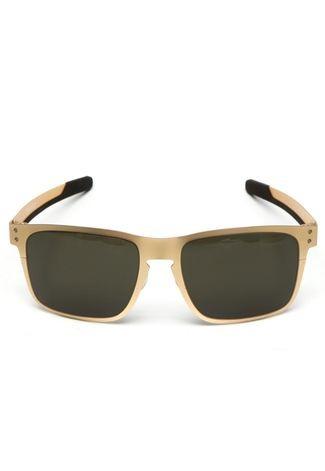 8a0d2bfbe742e Óculos De Sol Oakley Holbrook Metal Gold - R  640