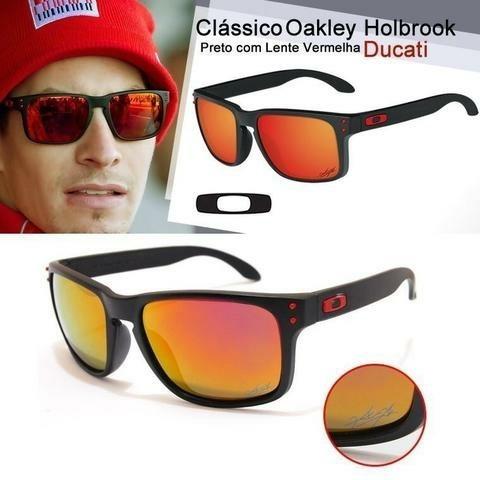 2b8559e1b8f62 Óculos De Sol Oakley Holbrook Vermelho Masculino Polarizado - R  69 ...