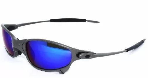 9a1a971823734 Oculos De Sol Oakley Juliet Azul Scuro Com Cinza Liquidação - R  99 ...