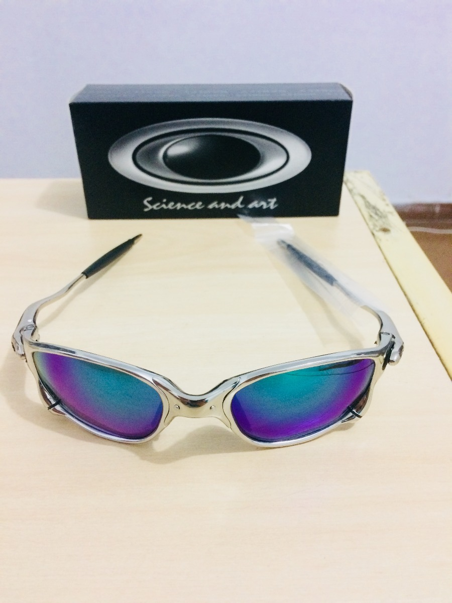 28510cbeb oculos de sol oakley juliet com lente verde/roxa barato. Carregando zoom.
