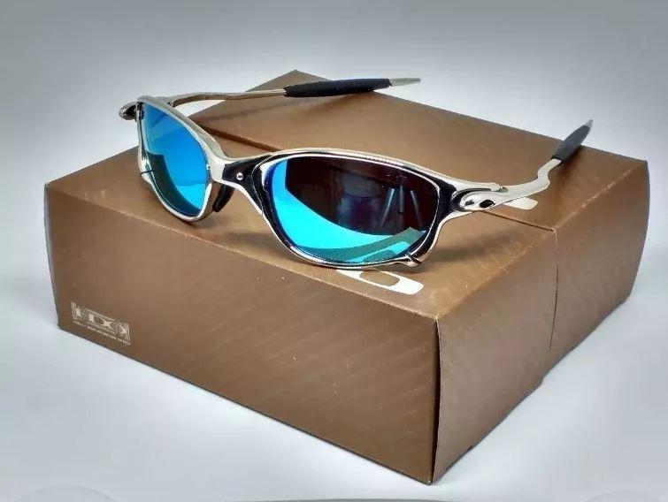 Oculos De Sol Oakley Juliet Double X 24k Ice Blue Barato - R  124,00 ... 1e7cf9eec6