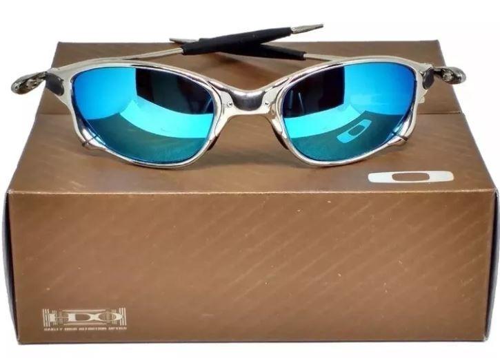 Oculos De Sol Oakley Juliet Double X Ice Blue Super Promocao - R  67 ... dc5093b9d1