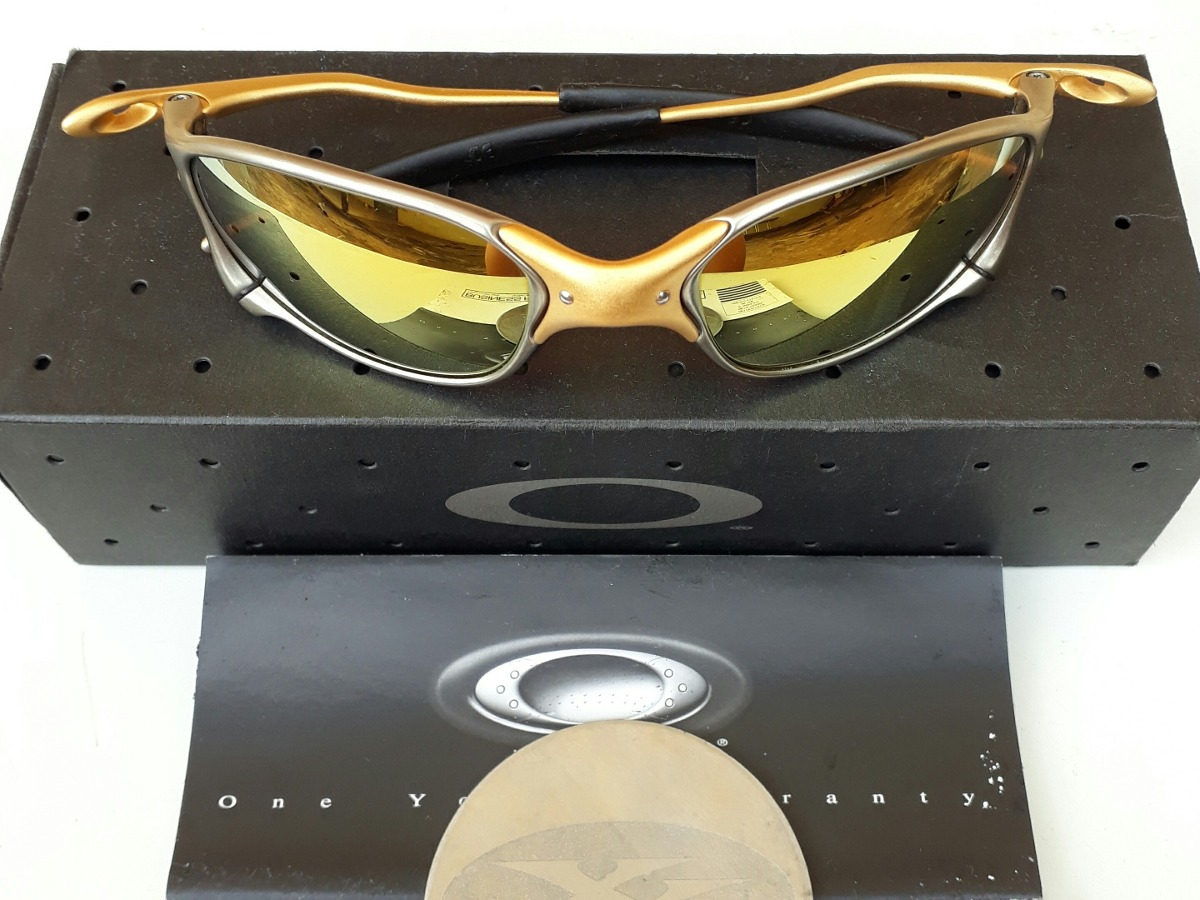 42f861b56a3b3 óculos de sol oakley juliet xx 24k edição limitada original. Carregando  zoom.