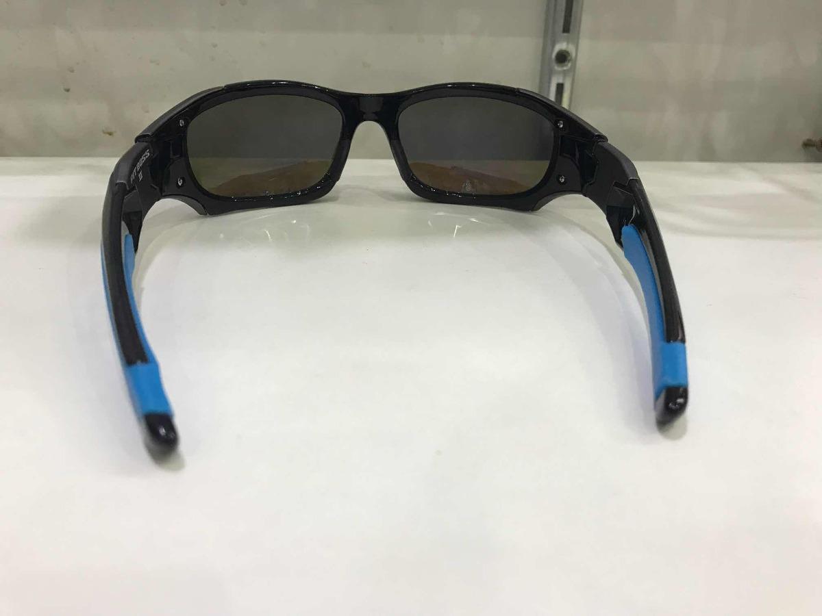 6f6c088b9 óculos de sol oakley pit boss 2 azul com preto brilho mascul. Carregando  zoom.