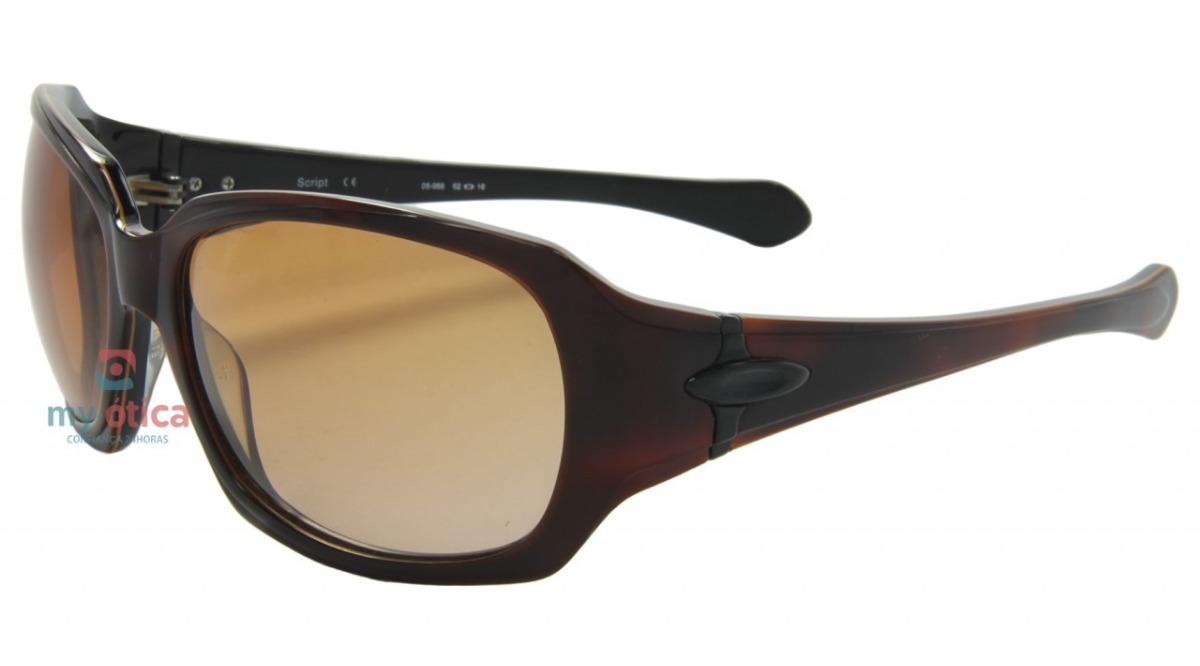Óculos De Sol Oakley Script - Havana Original Com Nfe - R  680,00 em ... 848867652c