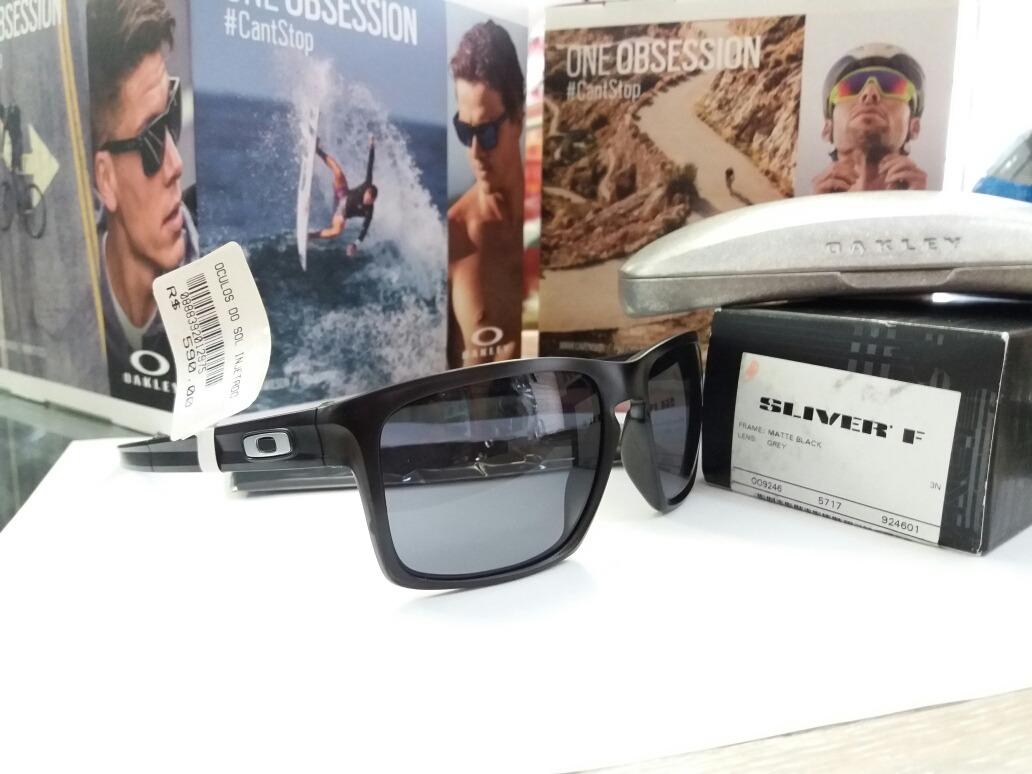 óculos de sol oakley sliver f - matte grey black original. Carregando zoom. 4aab592c84