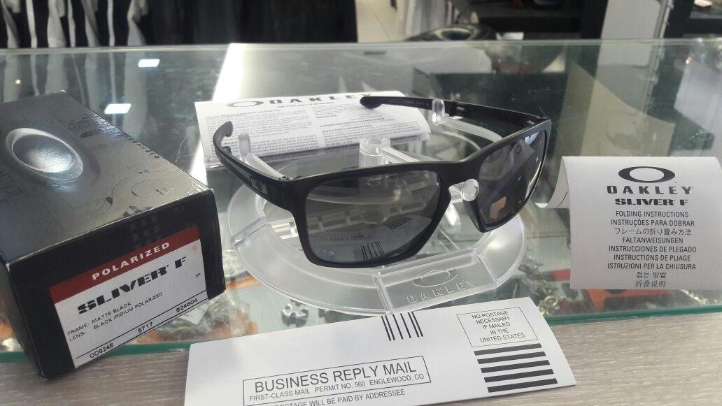 15ea7f184 Óculos De Sol Oakley Sliver F - Matte Grey/black Original - R$ 379 ...