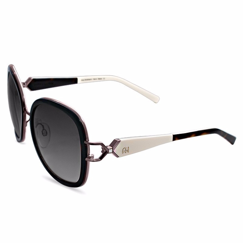 oculos de sol original ana hickman feminino preto marron. Carregando zoom. 6aa60d1b18