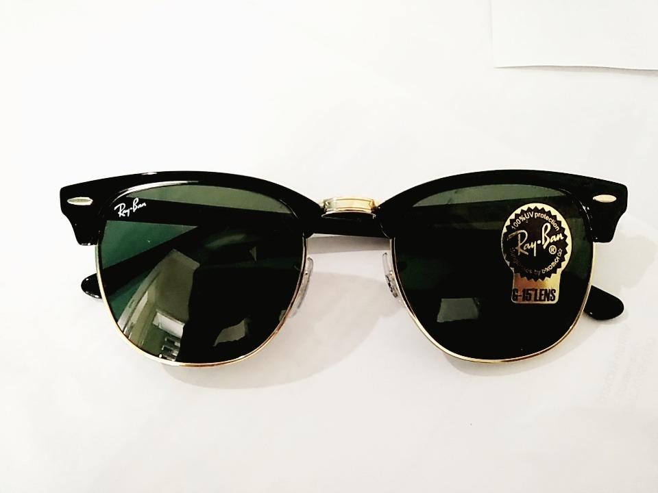 f11d43c44af5e Óculos De Sol Original Ray-ban Clubmaster Rb 3016l W0365 - R  480