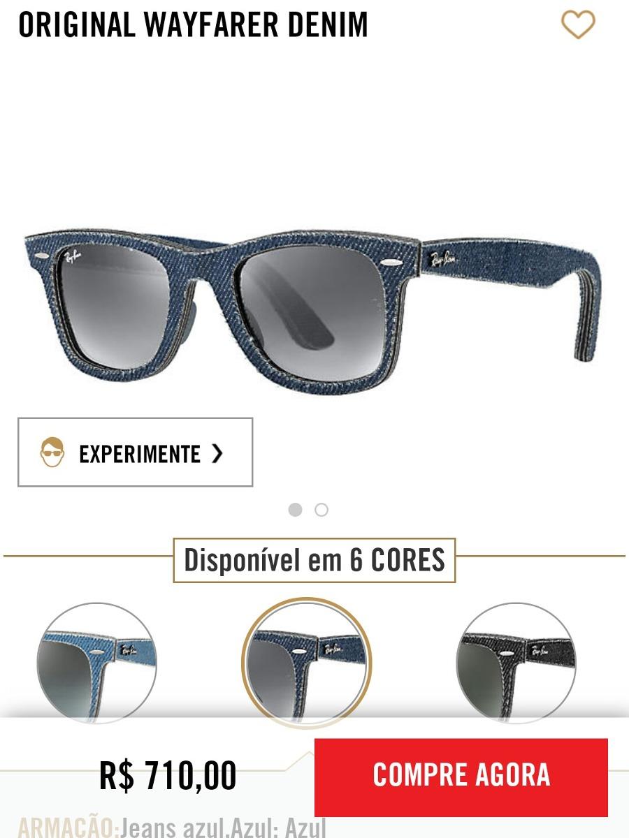 Óculos De Sol Original Rayban Jeans - R  400,00 em Mercado Livre 0617414589