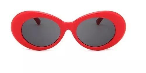 Óculos De Sol Oval Retro Kurt Cobain Armação Branca Uv400 - R  28,00 ... 8dfb66564c