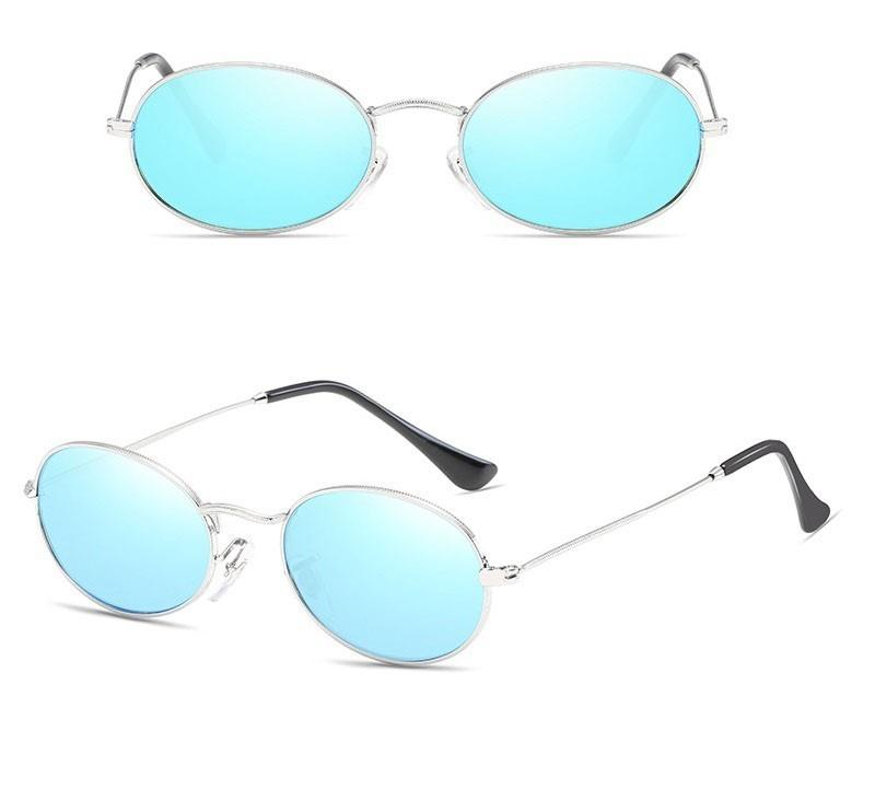 3c215a35b Oculos De Sol Oval Vintage Lente Uv400 Estilo Mini Retrô - R$ 99,00 ...