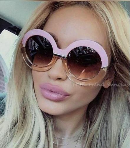 óculos de sol oversized rose