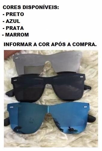 47a2bde64 Óculos De Sol Para Homem Lente Quadrada Espelhada Neymar Top - R$ 39 ...