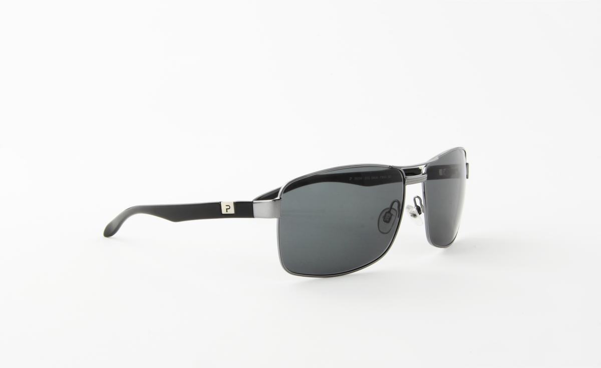 7f1aa6a972ce0 óculos de sol platini em metal prata hastes acetato preto. Carregando zoom.