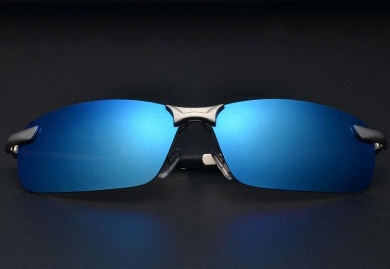 4332e1917cfee oculos de sol polarizado aviador sport espelhado uv400 azul. Carregando  zoom.