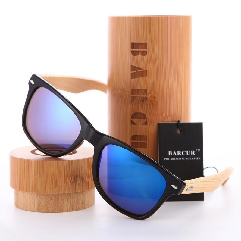 óculos de sol polarizado estilo bamboo stems uv400 barcur. Carregando zoom. f849b11c41