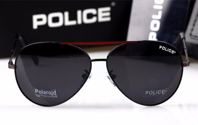 c91f9bfb51f3d Óculos De Sol Polarizado Masculino Police 100% Uva-b Aviador - R ...