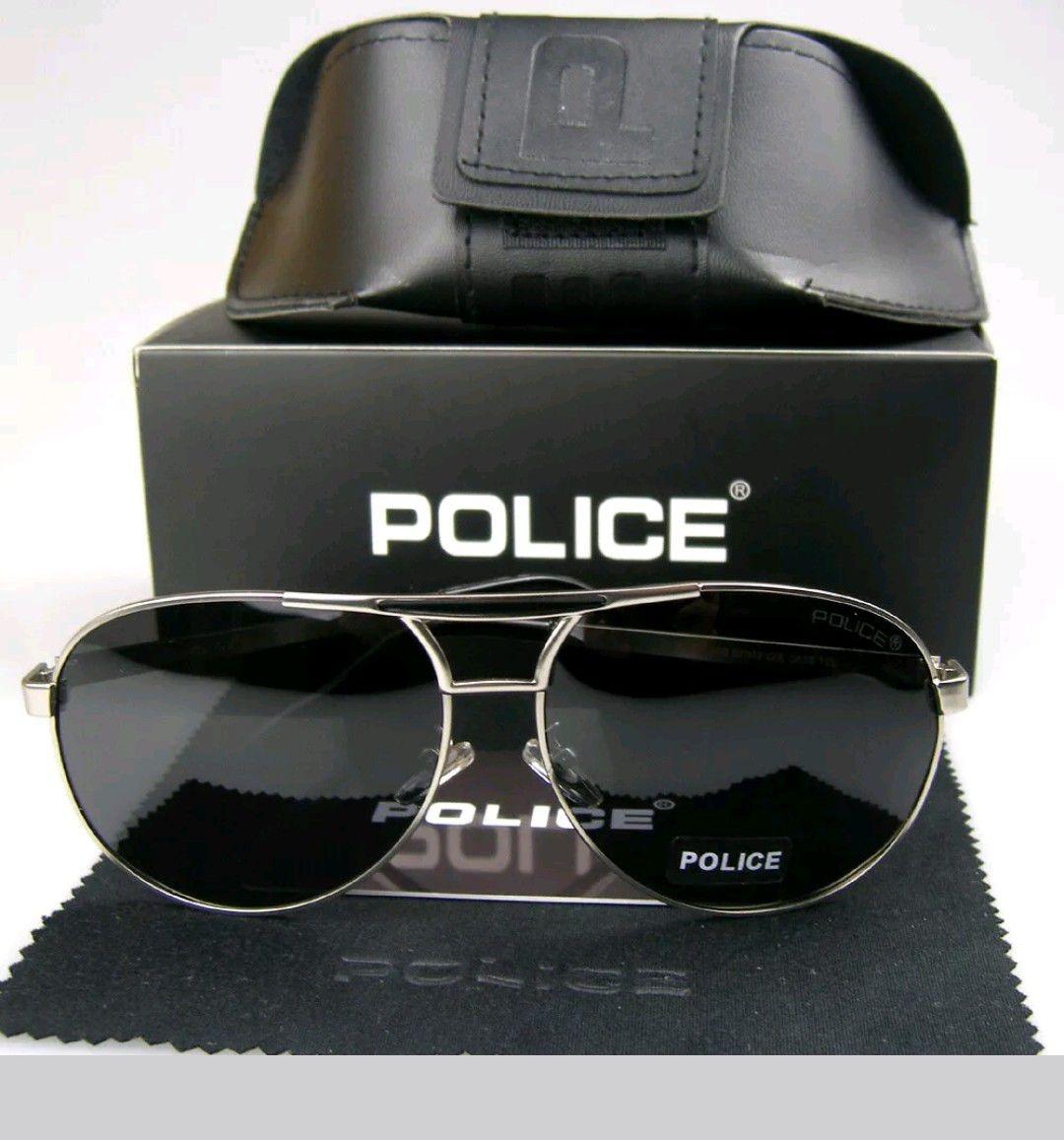 f09bf3fe5 óculos de sol polarizado police 100% uva-b masculino aviador. Carregando  zoom.