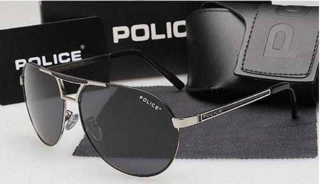 Óculos De Sol Polarizado Police 100% Uva-b Masculino Aviador - R ... 0b27e9147d