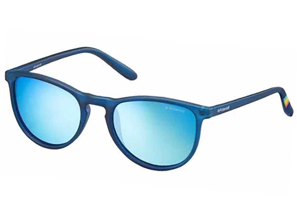 64a76900d2cc8 óculos de sol polaroid azul lente azul espelhada infantil. Carregando zoom.