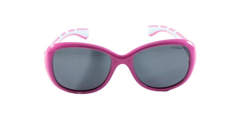 95557614abcbd Óculos De Sol Polaroid Kids P0411 Rosa Cinza - R  175,90 em Mercado ...