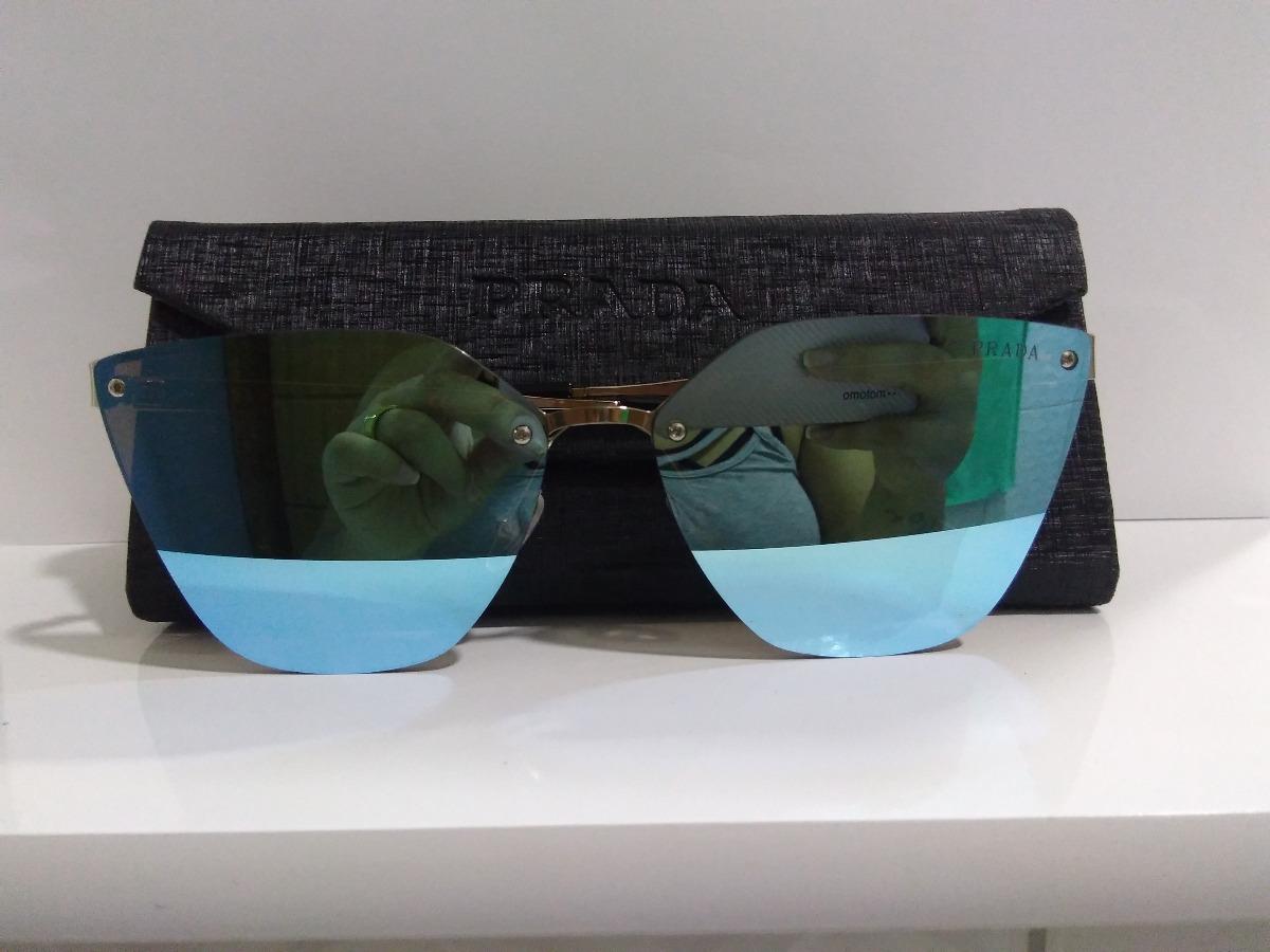 oculos de sol prada azul espelhado pr68ts lançamento feminin. Carregando  zoom. a7a1ba6e56