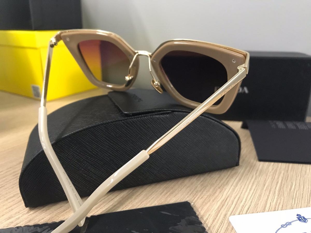 32476f5fc97b7 Óculos De Sol Prada Cinéma Evolution 53ss Nude - R  349,99 em ...