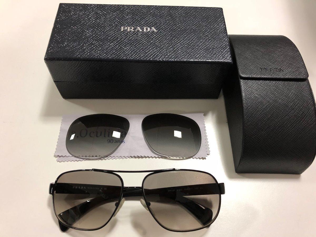 8ad61401d6201 Óculos De Sol Prada Original Com Caixa E Case De Proteção - R  400 ...