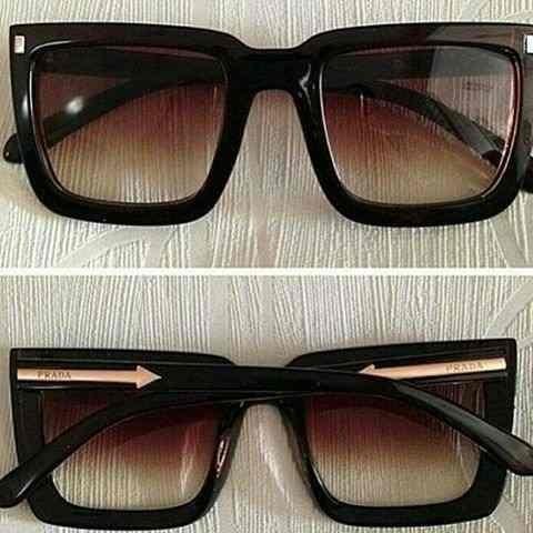... 8694871f12f Oculos De Sol Prada Quadrado Luxo. - R 72,60 em Mercado  Livre ... 2fea11c5e5