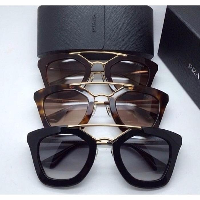 eb6ea97ca33f3 Oculos De Sol Pra.da Spr09qs Gatinho Luxo Geometric Promoção - R  79 ...