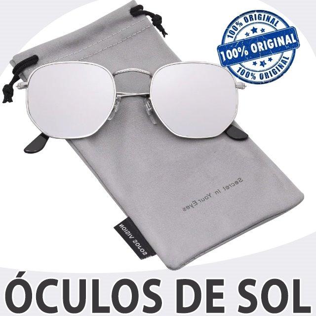 cb7d6dd81 Óculos De Sol Prata Espelhado Polarizado Várias Cores Unisex - R ...