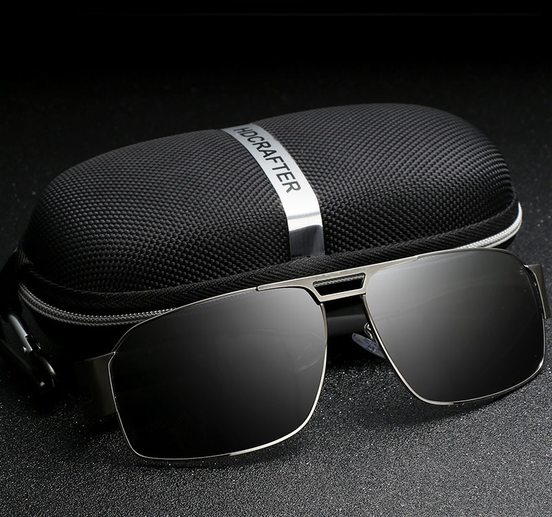 óculos de sol preto masculino - uv400 polarizado - hdcrafter. Carregando  zoom. e7ecff7a3f