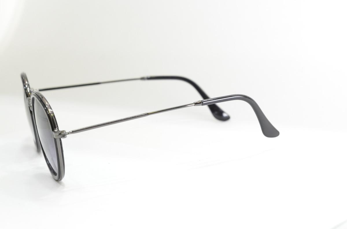 óculos de sol preto redondo moda pequeno resistente phantom. Carregando  zoom. f703e48226