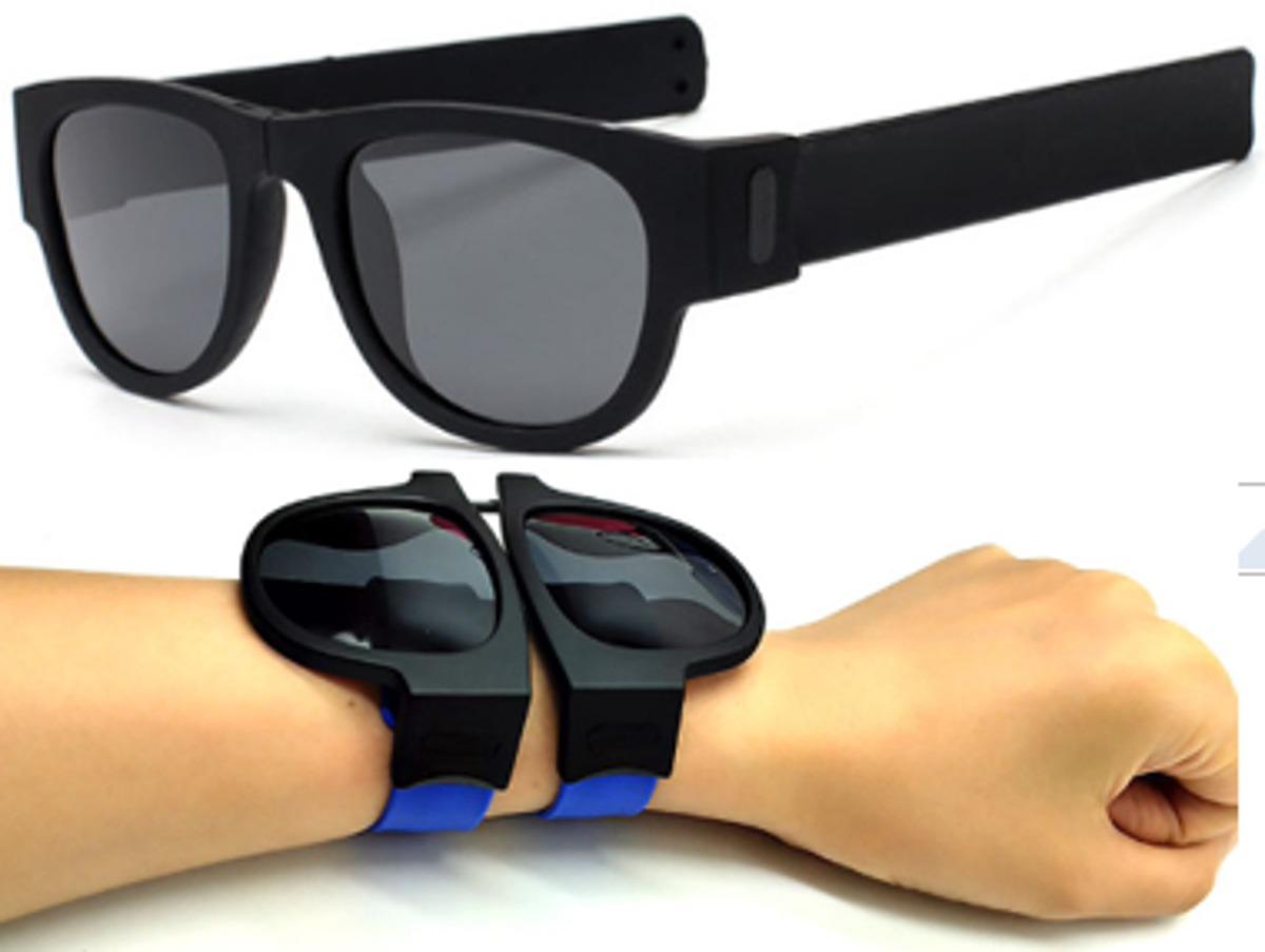 07633e596 óculos de sol pulseira prático divertido dobrável polarizado. Carregando  zoom.