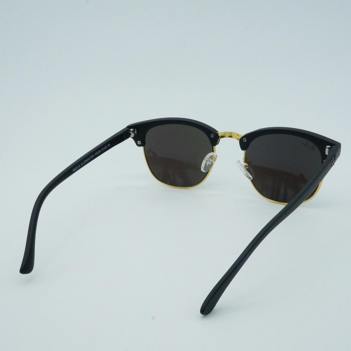 caee45bcabe7f Oculos De Sol Quadrado Retro Feminino Clubmaster 3016 Marrom - R  69 ...